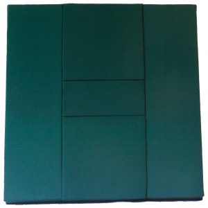 Mundillo de puzzle plano de dos cuadros y medio.