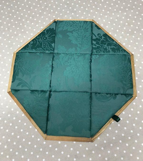 Mundillo puzzle octogonal con cajón de madera
